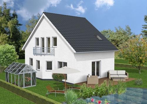 doppelhaus mit erker und balkon. Black Bedroom Furniture Sets. Home Design Ideas