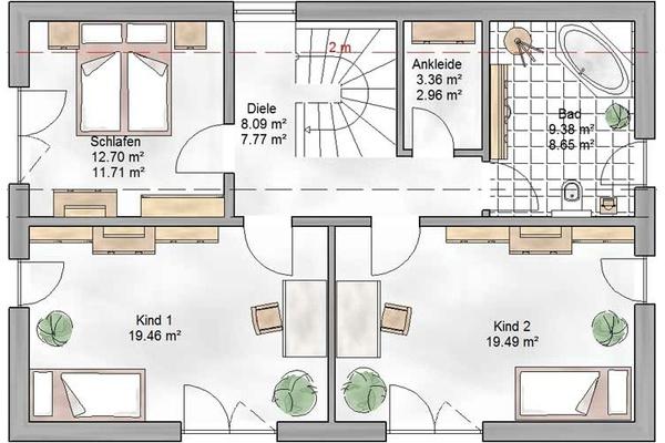 Einfamilienhaus grundriss mit maße  Einfamilienhaus Köln