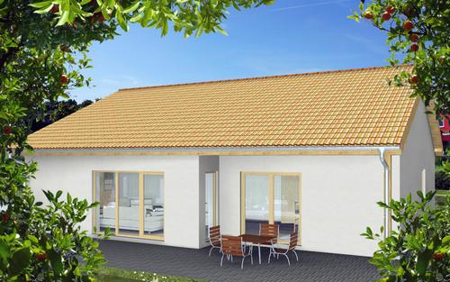 Massivhaus bungalow satteldach  Satteldach-Bungalow Siena